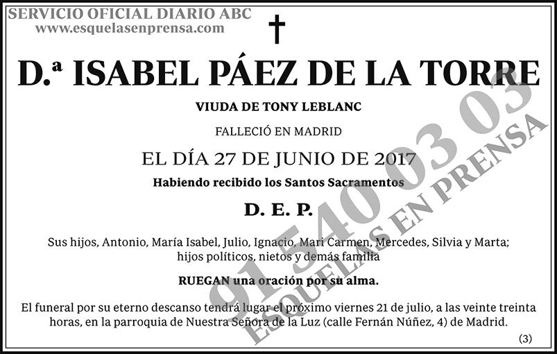 Isabel Páez de la Torre